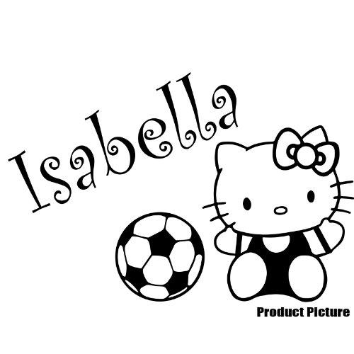 Hello Kitty, Ball mit Ihrem gewählten Namen 60cm x 40cm Farbe Wählen 18Farben auf Lager Namen, Name personalisiert, Childs Schlafzimmer, Kinder Zimmer Aufkleber, Auto Vinyl-, Windows und Wandtattoo, Wall Windows Art, Decals, Ornament Vinyl Sticker ThatVinylPlace (Hello Kitty Window Decal)