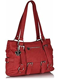 Butterflies Women's Shoulder Bag (Red) (BNS 0449)