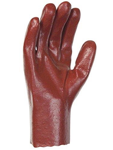 Singer Paire de gants P.V.C. Tout enduit 27 cm. Simple enduction. Version rugueuse PVC528. Taille 8,5