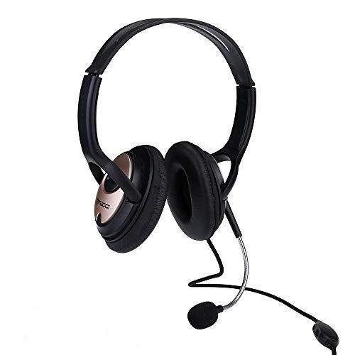 Seamount Stereo-Headset für Xbox One PS4 / Sony / PS3 / PC/Laptop, Over-Ear verstellbare Kopfhörer mit Mikrofon mit Geräuschunterdrückung, Lautstärkeregler rot Whit (Sony Ps3 Stereo-headset)