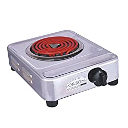 Orbon 2000-Watt G Coil Silver Convection Heater / Induction Cookers / Handy G Coil Cooktop ( With 2 Mtr. Wire Cord )( HUGE DIWALI DISCOUNT & FREE SHIPPING )