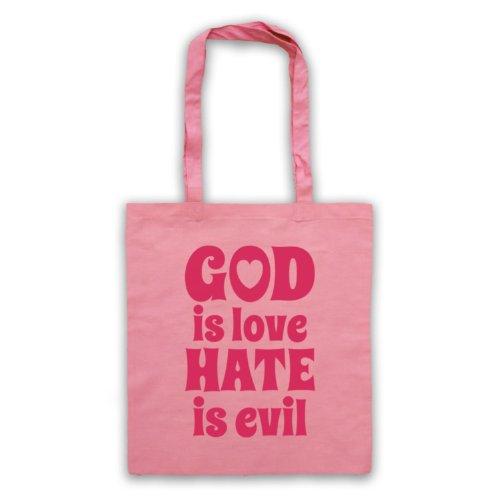 God Is Love Hate è Evil-Borsa, motivo: aforismi [lingua inglese] Rosa