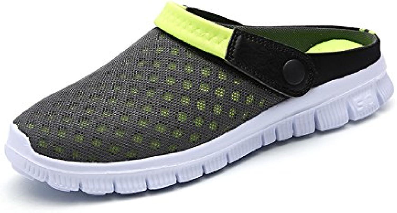 FOBEY Hombres-Mujeres Slip-on Zapatos de Malla Transpirable Parejas Sandalias Deporte Flip Flop
