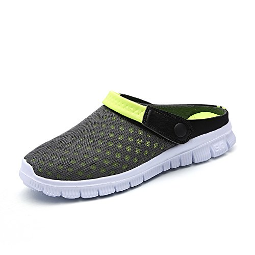 FOBEY Men-Women Slip-On Breathable Mesh Shoes Couples Sport Sandals Flip Flop