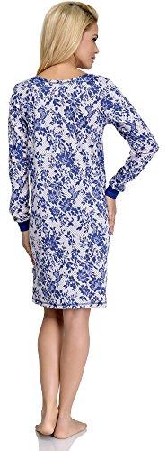 Merry Style Chemise de Nuit Femme 1016 Bleu