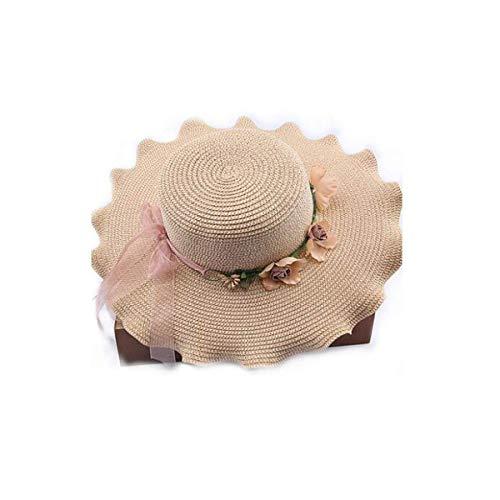 SCJS Hut, Bequemer atmungsaktiver Sonnenschutz-Strohhut, Beige erhältlich, (Größe: Umfang: 21,6-22,4 Zoll, Hutkante: 4,8 Zoll) 6-zoll-sexy