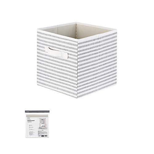 Miniso Stripe Series- Storage Box Without Lid (Grey)