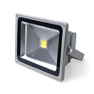 Auralum® MODERN10Year Guarantee 20W LED Flood Light Outdoor Spotlight 1700LUMEN 230V IP653000K Warm White (Grey) 20w Weiß mit Grau Rahmen