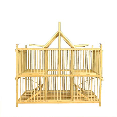 XWYGW Haustierbett Indoor-Vogelkäfig Außenvogelzuchtkäfig einschließlich Feeder Bambus Vogelträger Hang Flight Cage Klassisches Upgrade-Durable, Geeignet for Parrot/Vogel -