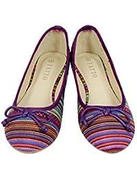 Bailarinas Planas para Mujer, Diseño Veraniego Multicolor - 36 EU