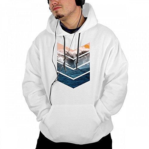 Custom Mens Hooded Design Sunrise Surfer Hoodies