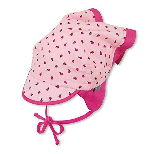 Sterntaler Kopftuch für Mädchen mit Bindebändern und Marienkäfer-Motiv, Alter: 12-18 Monate, Größe: 49, Rosa (Mandelblüte)