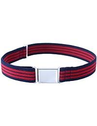Kajeer Cinturón magnético ajustable para niños pequeños - Cinturón elástico grande con hebilla magnética fácil para niños de 2 a 15 años