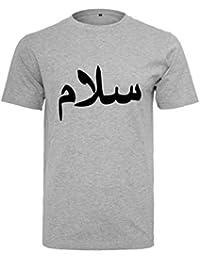 AHAD THE ONE Salam, Peace T-Shirt mit Arabische Kaligraphie Islam-T-Shirt   Muslimische Kleidung für… a39e098001