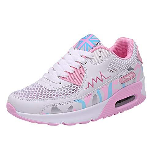Lilicat_Damen Sneaker Sportschuhe Laufschuhe Bequeme Air Laufschuhe Schnürer Running Shoes Ultra-Light Gym Fitness Mesh ()