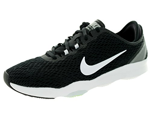 Nike Wmns Zoom Fit, Chaussures de Tennis Femme, Talla Black/White/Volt