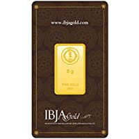 IBJA Gold 5 Gm, 24K (999) Yellow Gold Precious Bar