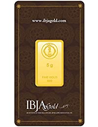 IBJA Gold 24k (999) 5 gm Yellow Gold Bar