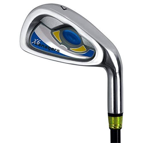 MOMIN-SP Golfschläger tragen Golfschläger Männer und Frauen Golf Putter Carbon 7 Eisen Kinder Golf Practice Club Für Jugendliche, Blau, Grün Golf-Übungsputter (Farbe : Blau, Größe : No.7)