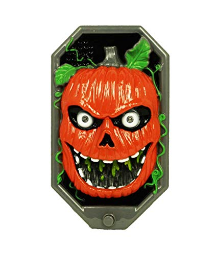 sel Kürbis mit LED Licht orange 19 cm für Halloween, Fasching, Karneval ()