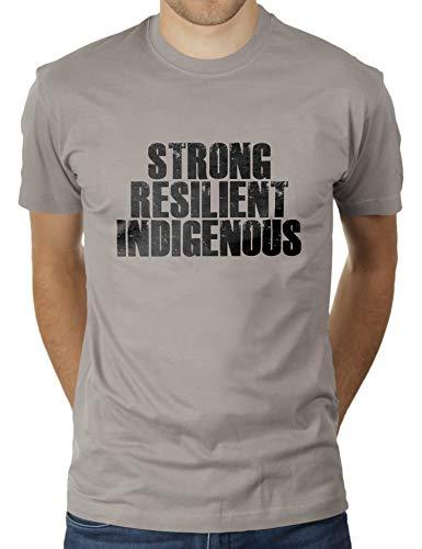 Strong Resilient Indigenous - Herren T-Shirt von KaterLikoli, Gr. M, Light Gray -
