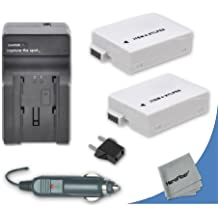 2 High Capacity Replacement Canon LP-E8 Batteries with AC/DC Quick Charger Kit for Canon EOS 700D DSLR Camera