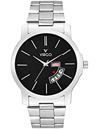 Virgo Classic Black Dial Stainless Steel Day And Date Display Analogue Men's Watch - VG-5000-PD-BK