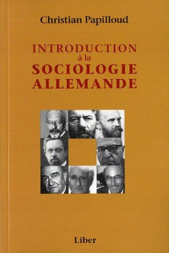 Introduction à la sociologie allemande