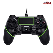 RPM - Euro Games Ps4 Controller - Green. Wired Ps4 Remote Controllers, Dualshock 4, Gamepad - By Euro Games. Also Works As - PC Controller, PS4 Pro, Ps4 Slim Controller.