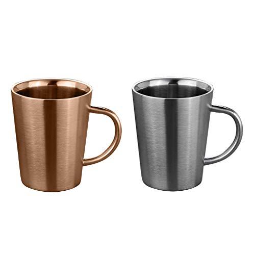 B Blesiya 2 Stück Becher, Mehrweg, Party-Becher, Kaffee Tee Becher, Mehrweg-Becher, Wasser-Gläser, Trink-Gläser - Wasser Gläser Trink