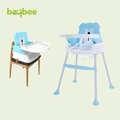 Baybee 5 in 1 Smart and Convertible High Chair Baby Feeding Chair (Blue)