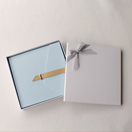 FOOHAO- Albums photo avec des pages collantes, cadeaux créatifs Couple romantique, 20 Pages (40 Surface) (Couleur : Blue-White card)