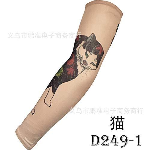 CXQ Tattoo Ärmel Rana Tattoo Ärmel Chinesischen Stil Tattoo Ärmel Große Blume Arm 3D Digital HD Tattoo, D249-2 Hd Tattoo