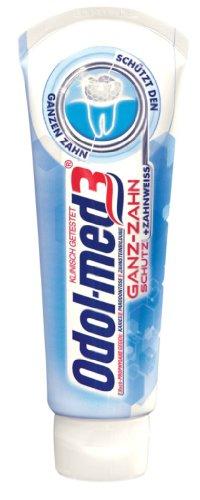 Odol med 3 Ganz-Zahn Schutz + Zahnweiß, 4er Pack (4 x 75 ml)
