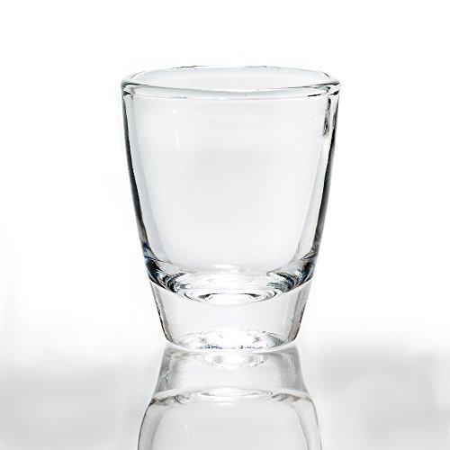 Rompak LLC 1oz Vodka Shot Glas Set von 12-Heavy Bottom Boden, kristallklare-Elegant und Robust-Perfekt für Tequila, Wodka, Whiskey, Rum, Oder Anderen Likören/Spirituosen Farblos Heavy Bottom Set