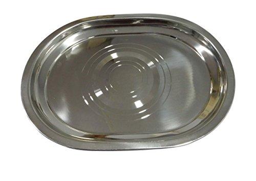 Edelstahl-ovale Form-Behälter-kreisförmige Muster-vielseitige Mehrlagenplatte, 11,5 x 8 Zoll (Silber), Ostern-Tag / Mutter-Tag / Karfreitag-Geschenk