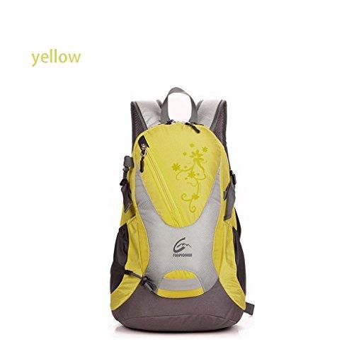 Avanzate 30L sacchetto di alpinismo zaino autentico di guida all'aperto trekking impermeabile zaino giallo