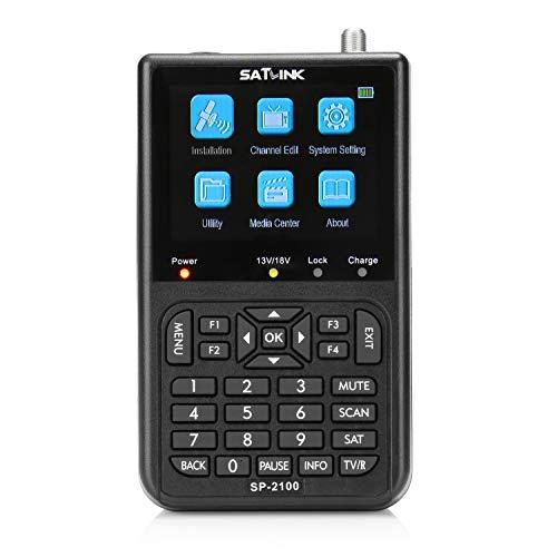 SATLINK SP-2100 HD Satfinder Messgerät, DVB-S / S2 y MPEG-2/4 Satelliten Finder mit 3,5 Zoll LCD-Bildschirm para ausrichten Sat Antenne Camping, Auto, Blind, Manual und NIT Scan
