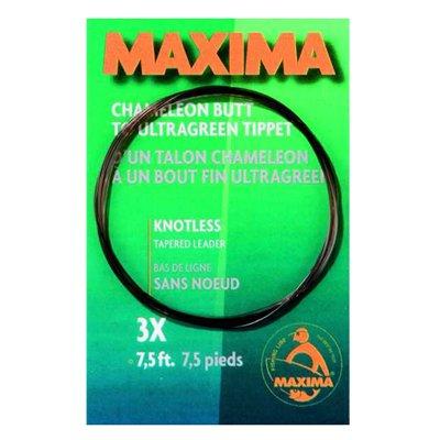 MAXIMA Chameleon Fliegenvorfach (230cm), Fliegenvorfachtyp:3 x 0.63 / 0.20 -