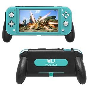 Schutzhülle für Nintendo Switch Lite 2019, ergonomischer Griff, für Switch Lite Konsole und Controller, gelb