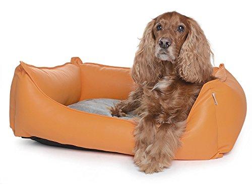 Hundebett Dreamcollection Kunstleder 70 x 50 cm, orthopädischer Visco Schaumstoff