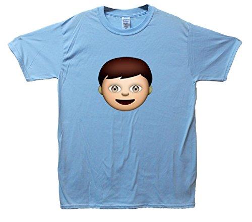 Boy Emoji T-Shirt Hellblau