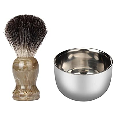 sorry for not include the brush Shinning Stainless Steel Men's Shaving Mug Shave Soap Brush Bowl Cup 7.2cm New