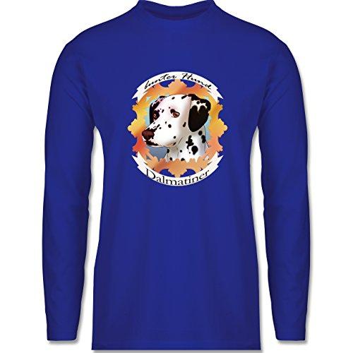 Hunde - Dalmatiner - bunter Hund - Longsleeve / langärmeliges T-Shirt für Herren Royalblau
