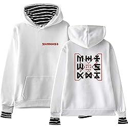 Monsta X Femme 2 en 1 Fashion Décontractée Sweats à Capuche Confortable Loose Manches Longues A Capuche Sweats