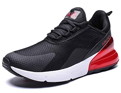 GNEDIAE Uomo Air 27C a Collo Basso Sneakers Scarpe da Corsa Sportive Running Basket Sport Outdoor Fitness Respirabile Mesh Nero 44 EU