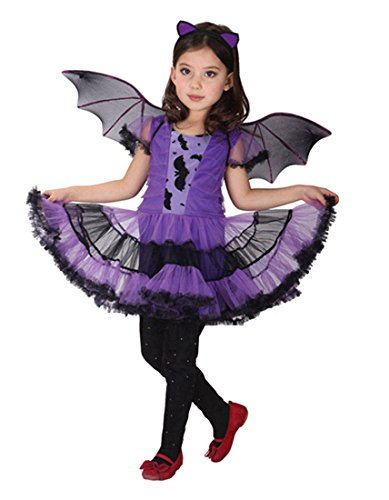 BAT-GIRL KOSTÜM FEE-KOSTÜM KIDS LILA BATGIRL