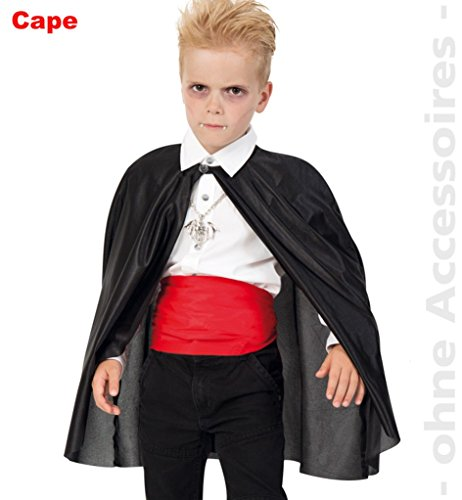Umhang 1tlg. 104/116 Vampir Dracula - Kleinkind Teufel Halloween-kostüm