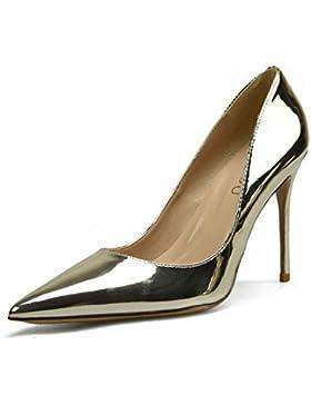 Huatuo® argento oro nozze scarpa notte negozio sexy super sharp tacchi bene tacco superficiale sola scarpa femminile...