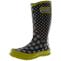 Bogs Waterproof Rainboot Black Multi Kids Wellies Boots 71322 Size UK13-UK5 (UK3/EU37)